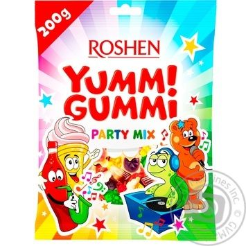 Roshen Yummi Gummi Party Mix jelly candy 200g - buy, prices for EKO Market - photo 1
