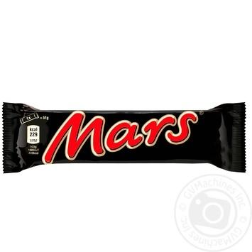 Батончик Mars с нугой и карамелью в молочном шоколаде 51г - купить, цены на Метро - фото 1