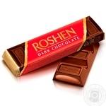 Батончик Roshen шоколадный с помадно-шоколадной начинкой 43г - купить, цены на МегаМаркет - фото 1