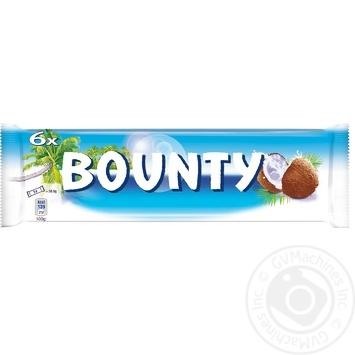 Bounty Milk-Chocolate In Glaze With Coconut Feeling Bar 6pcs 171g - buy, prices for CityMarket - photo 1