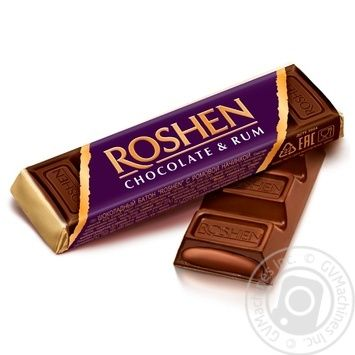 Roshen with rum filling chocolate candy bar 43g - buy, prices for MegaMarket - image 1