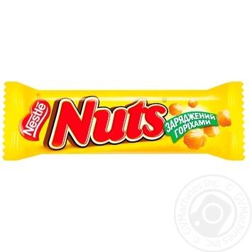 Батончик NESTLÉ® NUTS® 42г - купити, ціни на Метро - фото 1