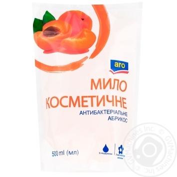 Мыло жидкое Aro Абрикос антибактериальное 500мл - купить, цены на Метро - фото 1