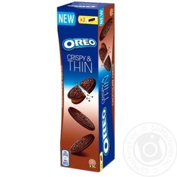 Печенье Oreo тонкое с какао и начинкой какао 96г