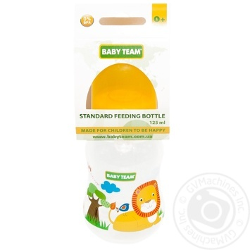 Baby Team Feeding bottle with silicone nipple 125ml - buy, prices for Novus - image 1