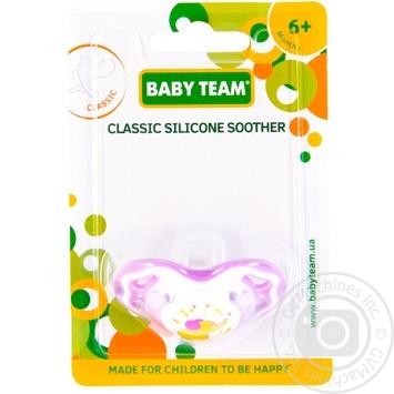 Пустышка Baby Team силиконовая классическая 6мес+