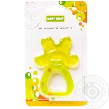 Прорезыватель-погремушка с водой Baby Team - купить, цены на Novus - фото 1