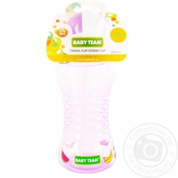 Поильник Baby team для путешествий с трубочкой 270мл - купить, цены на Ашан - фото 1