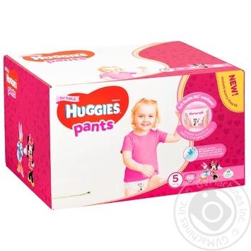 Підгузки-трусики Huggies для дівчаток 5 12-17кг 68шт/уп