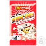 Попкорн Mc`Corn с маслом для микроволновой печи 90г
