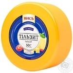 Сыр Высь Тильзит твердый 50% весовой