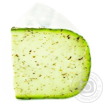 Сыр Huizer Kaas-Gilde Гауда Песто зеленый 50% весовой