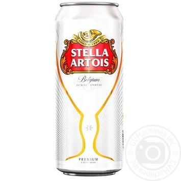 Пиво Stella Artois світле з/б 5% 0,5л - купити, ціни на МегаМаркет - фото 1