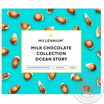 Конфеты Millennium Ocean Story шоколадные с ореховым пралине 340г