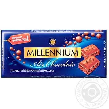Шоколад Millennium Premium молочний пористий 90г