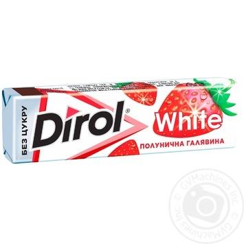 Жевательная резинка Dirol White клубника 14г