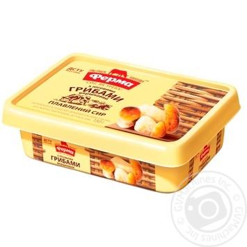 Сыр плавленый Ферма сливочный с лесными грибами пастообразный 60% 180г - купить, цены на Фуршет - фото 1