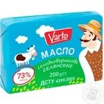 Масло Varto Крестьянское 73% сладкосливочное 400г