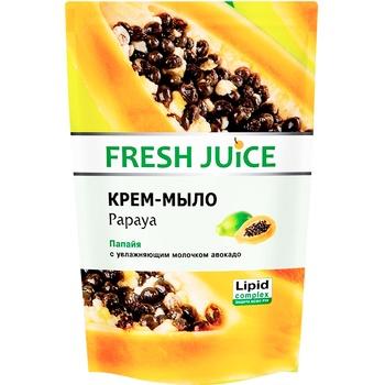 Крем-мыло Fresh Juice Papaya дой-пак 460мл - купить, цены на Novus - фото 1