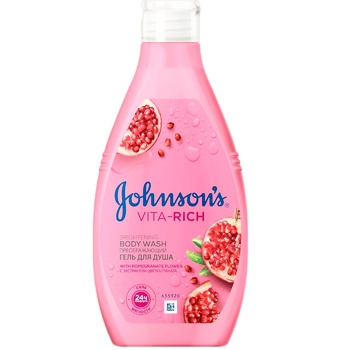 Johnson's Body Care Vita-Rich With Pomegrante Extract For Shower Gel 250ml