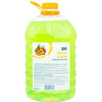 Мыло жидкое Aro Тропические фрукты 4.5кг - купить, цены на Метро - фото 1