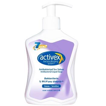 Мыло Activex антибактериальное для чувствительной кожи 300мл
