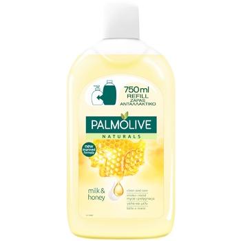 Жидкое мыло Palmolive Натурэль Питание Мед и Увлажняющее молочко  сменный блок 750мл