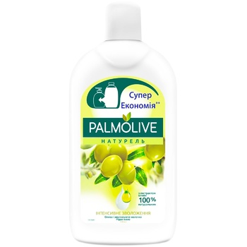 Жидкое мыло Palmolive Натурель Интенсивное увлажнение Олива и увлажняющее молочко сменный блок 750мл