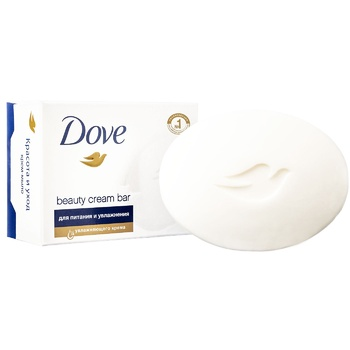 Dove Cream soap beauty and care 135g - buy, prices for Metro - image 1