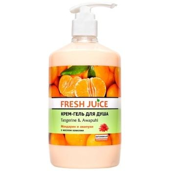 Гель для душа Fresh Juice Мандарин и авапухи 750мл - купить, цены на Метро - фото 1