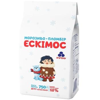 Мороженое Рудь пломбир Эскимос 750г - купить, цены на Метро - фото 1