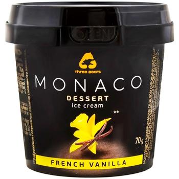 Мороженое Три медведя Monaco Dessert со вкусом ванили 70г