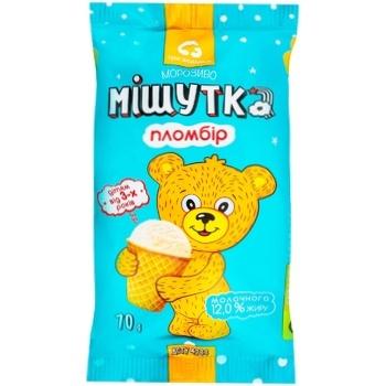 Морозиво Три ведмеді Мішутка пломбір у вафельному стаканчику 70г - купити, ціни на Novus - фото 1