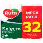 Туалетная бумага Ruta Selecta трёхслойная 32 рулона