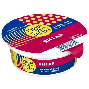 Сыр Пирятин Янтарь плавленый пастообразный 60% 100г - купить, цены на Фуршет - фото 1