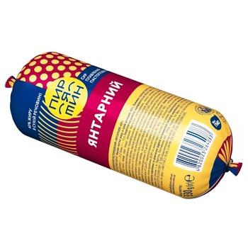 Сыр плавленый Пирятин Янтарный колбасный пастообразный 60% 330г - купить, цены на Фуршет - фото 1