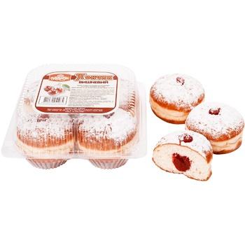 Пончик Румянец вишневый 220г - купить, цены на Novus - фото 1