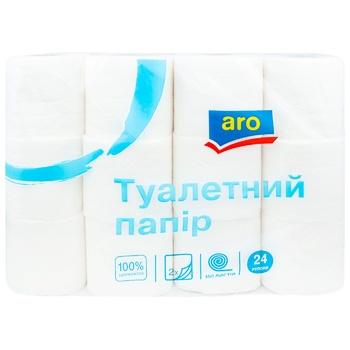 Туалетний папір Aro двошаровий 24шт - купити, ціни на Метро - фото 1