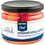Перець Metro Chef червоний Флорініс фарширований сиром в соняшниковій олії 280г