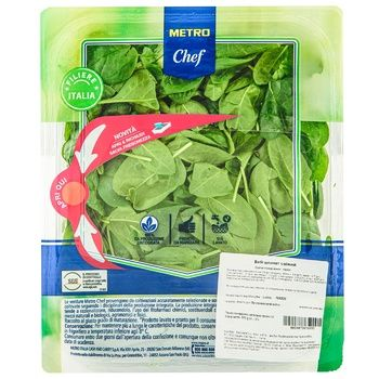 Metro Chef fresh spinach 500g