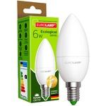 Лампа светодиодная Eurolamp LED E14 6W 3000K