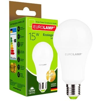 Лампа светодиодная Eurolamp LED А60 15W E27 3000K
