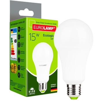 Лампа светодиодная Eurolamp LED E27 15W 4000K