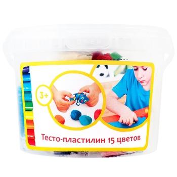 Набор для детской лепки Тесто-пластилин 15 цветов - купить, цены на Метро - фото 1