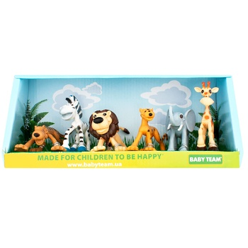 Набор игрушек Baby Team Сафари 6шт