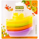 Set of toys Baby Team for bathroom Bright boat 3pcs