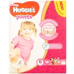 Huggies Pants for girls 6 15-25kg 60pcs