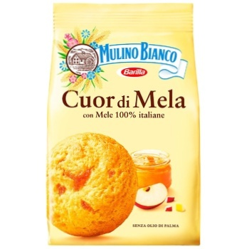 Mulino Bianco Cuor di mela Cookie with Apple 250g - buy, prices for Metro - image 1