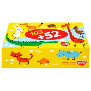 Ruta Kids Cosmetic Napkins 155pcs - buy, prices for Metro - image 1