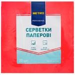 Серветки METRO Professional паперові червоні 3 шари 33*33 20шт